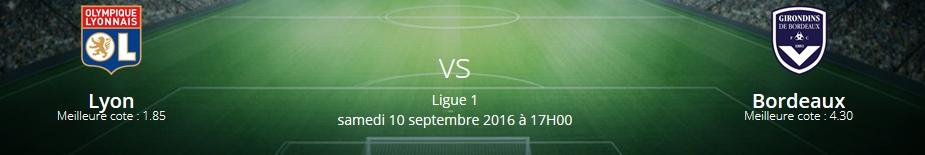 Pronostics Lyon – Bordeaux Ligue 1