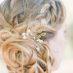 Accessoires cheveux mariage : pic à chignon en perles rocaille et gouttes